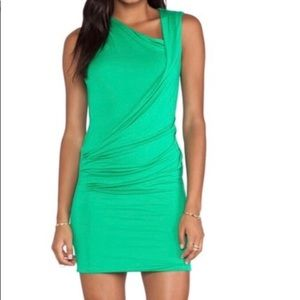 NWT BCBG Ainsley Assymetrical Green Dress xS